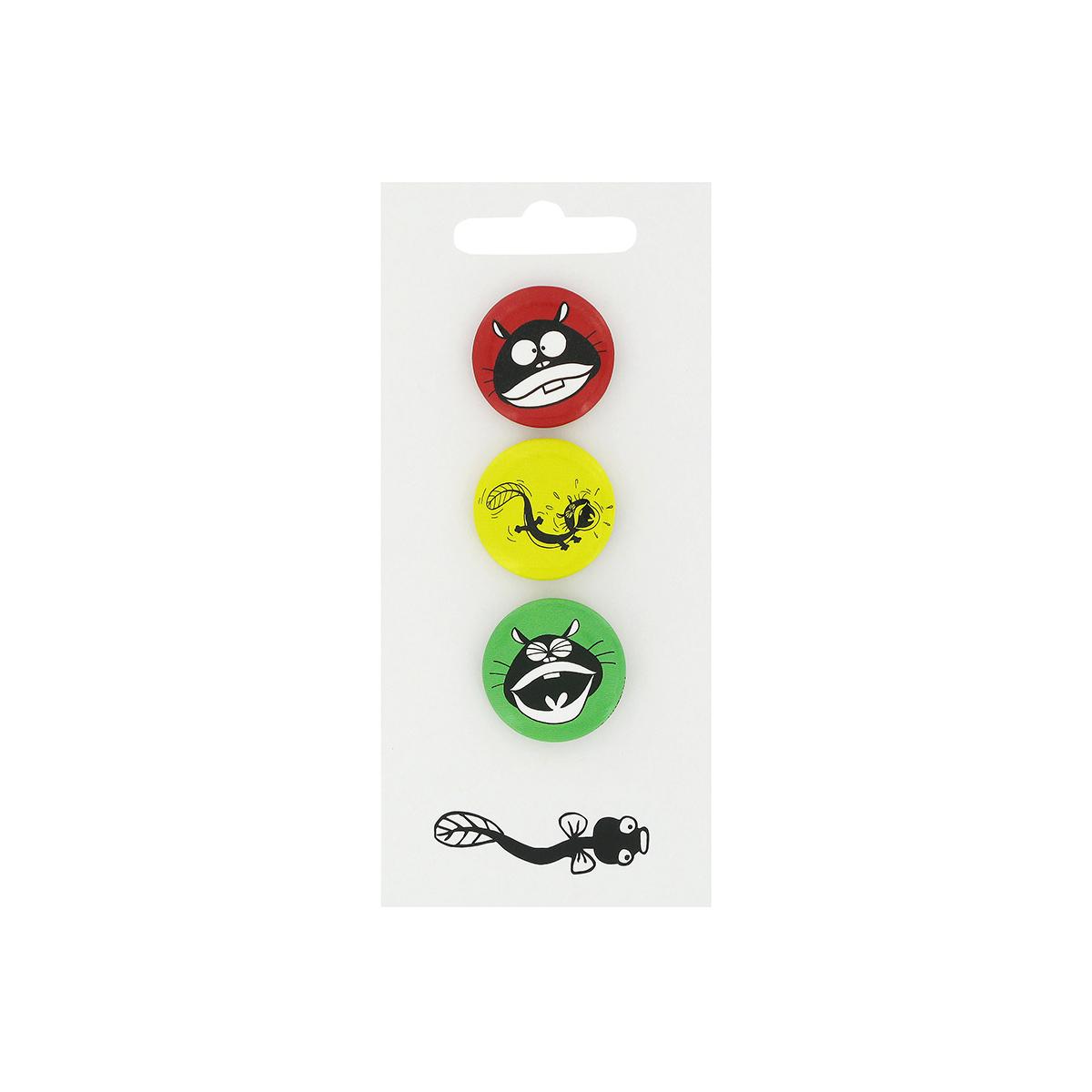 Eel Dog pin badges