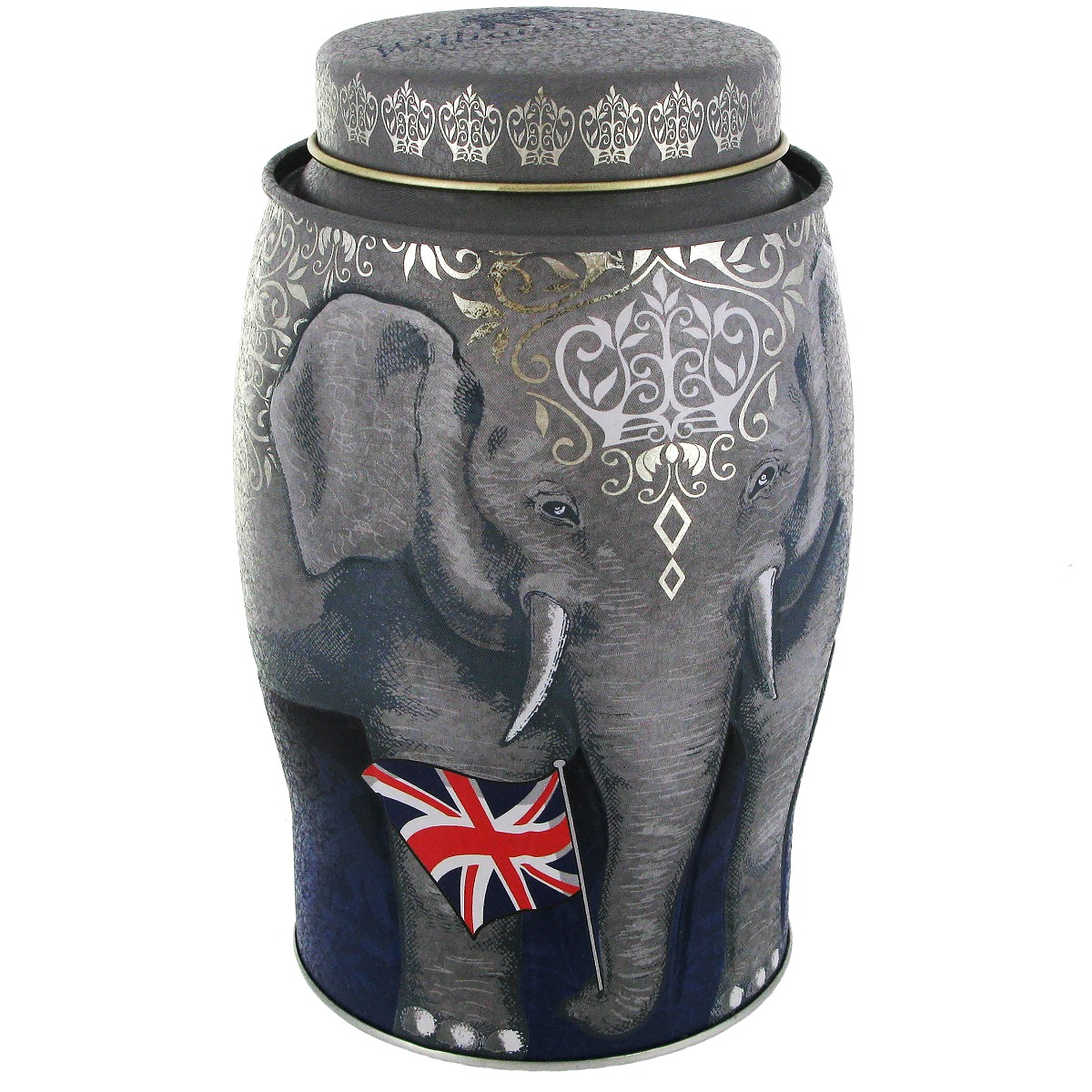 Elephant tea caddy (Union Flag)