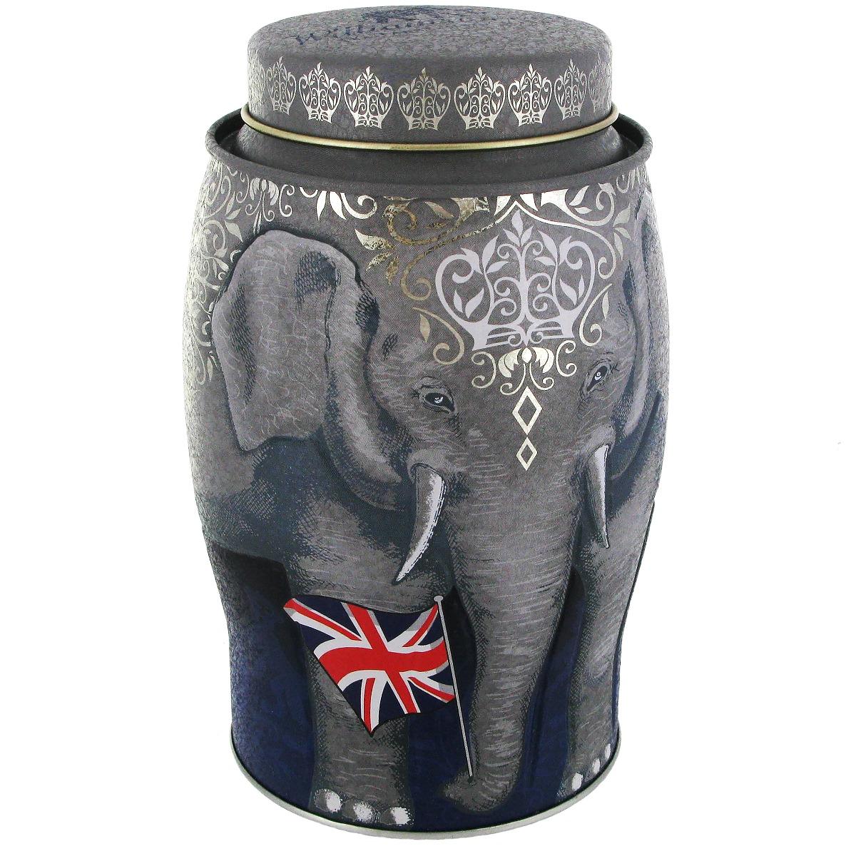 Elephant tea caddy with Earl Grey tea (Union Jack)