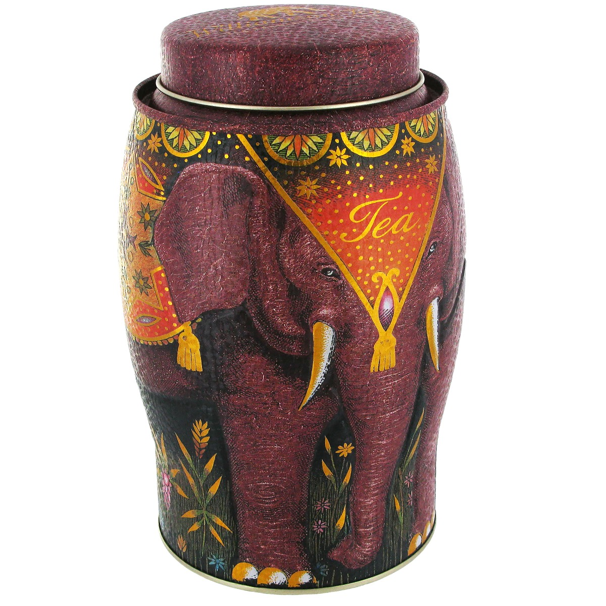 Elephant tea caddy with English Breakfast tea (red)