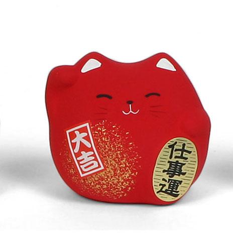 Feng shui cat (red)