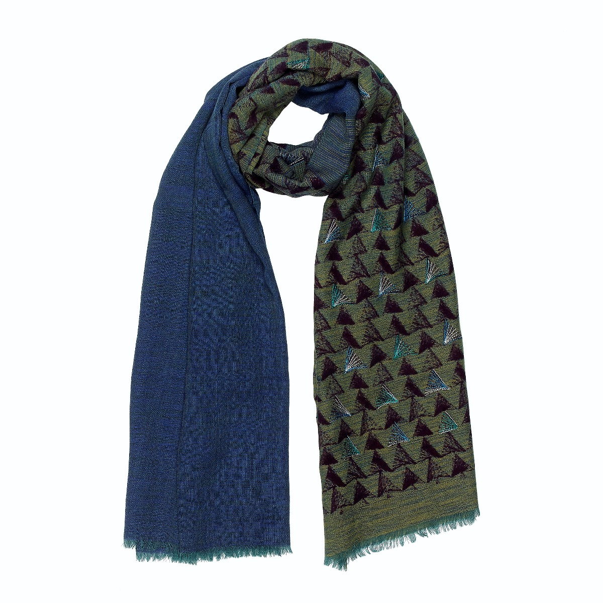 Forest green wool scarf