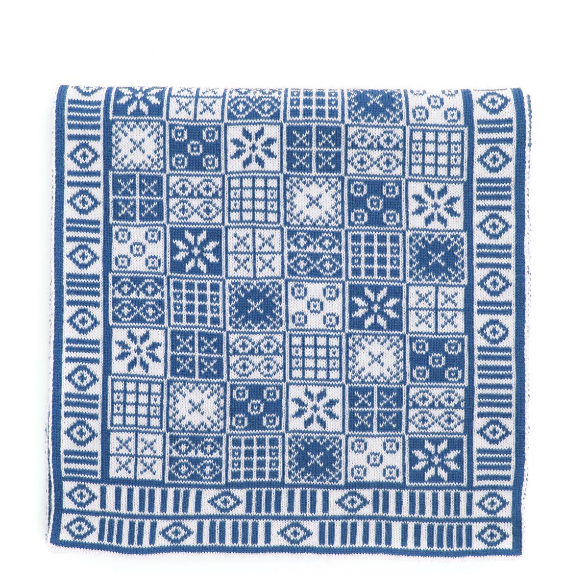 Game of Ur pattern scarf (blue)