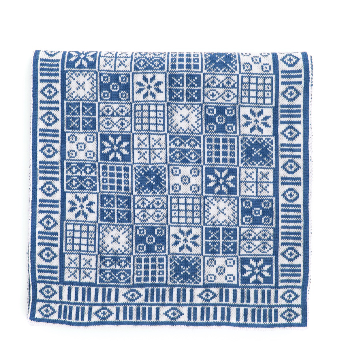 Game of Ur pattern scarf (blue)