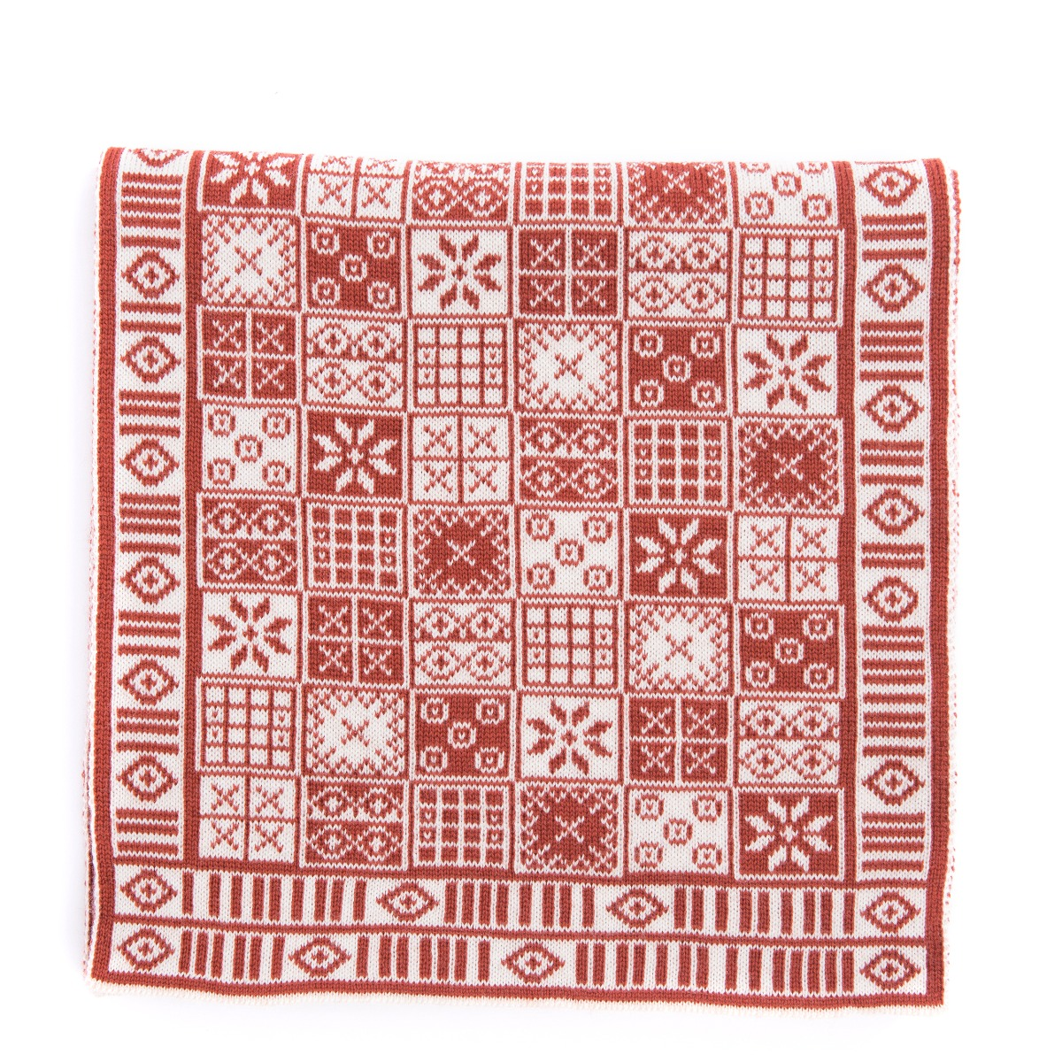 Game of Ur pattern scarf (red)