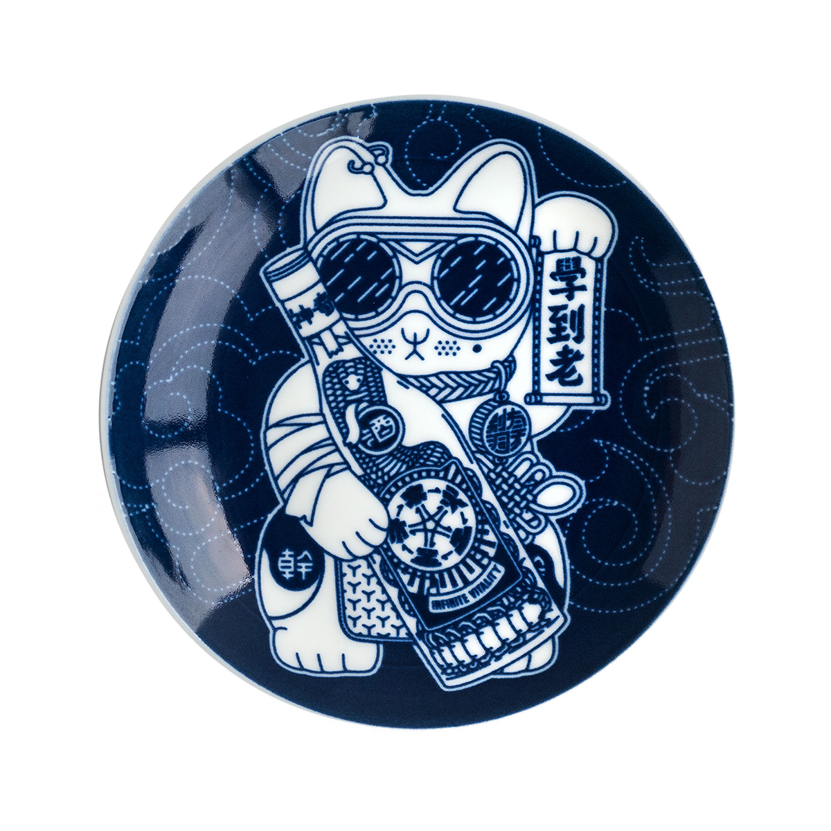 Gangster kitty plates