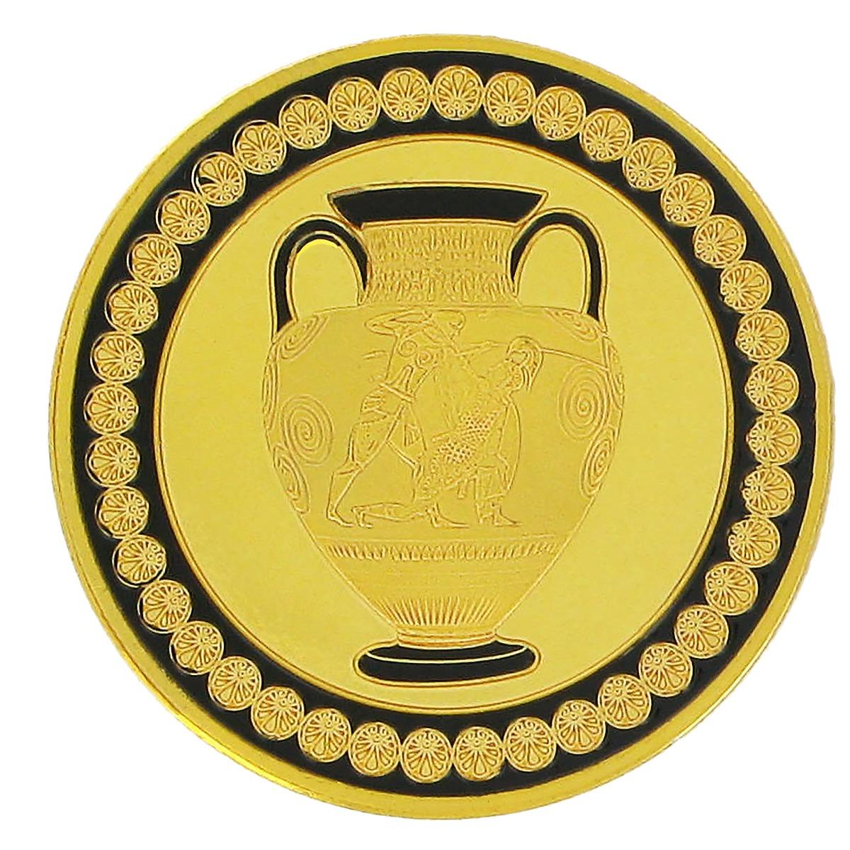 Greek pot souvenir coin