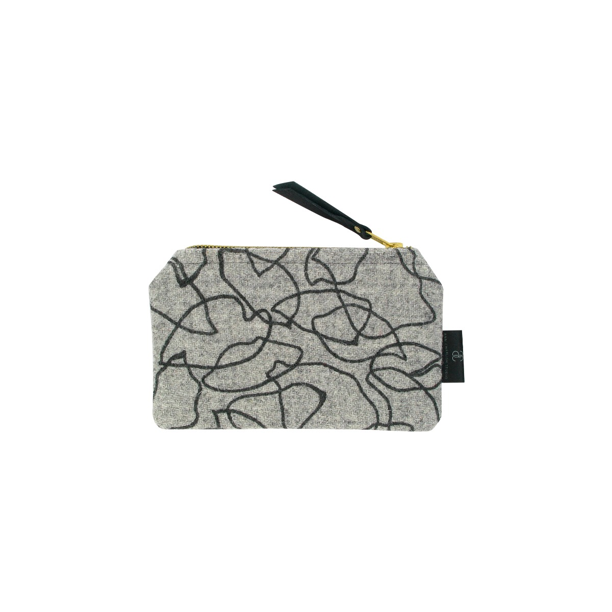 Grey coin purse