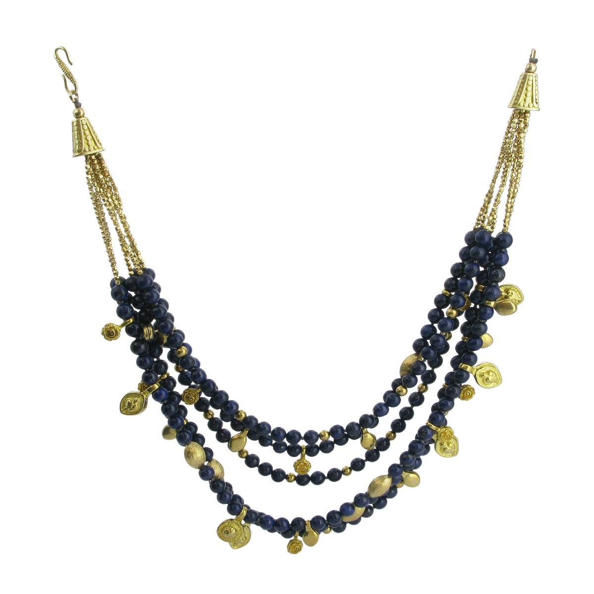 Lapis lazuli 6 strand necklace