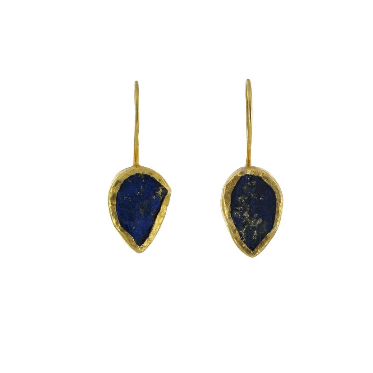 Lapis tear drop earrings