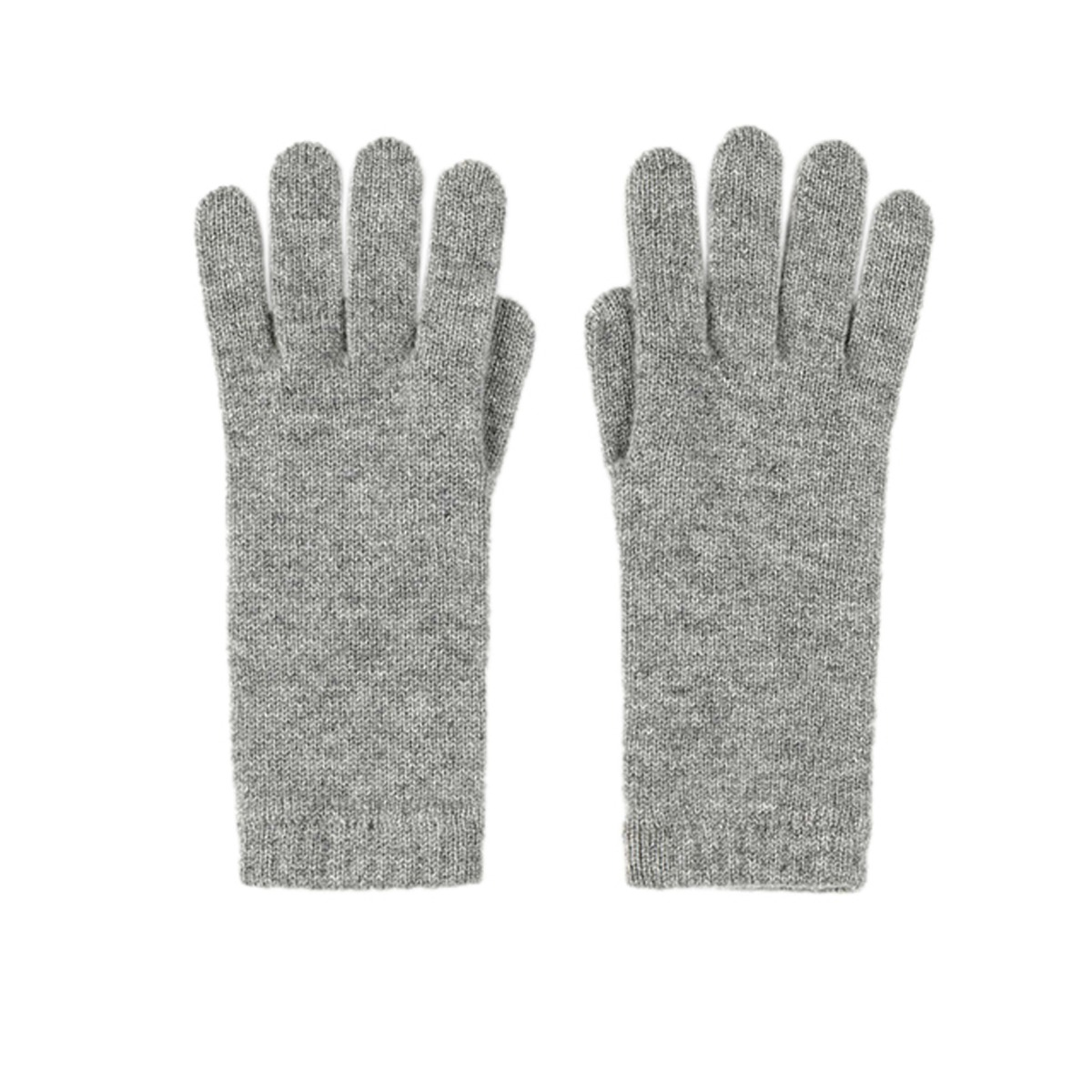 Light grey cashmere women's gloves