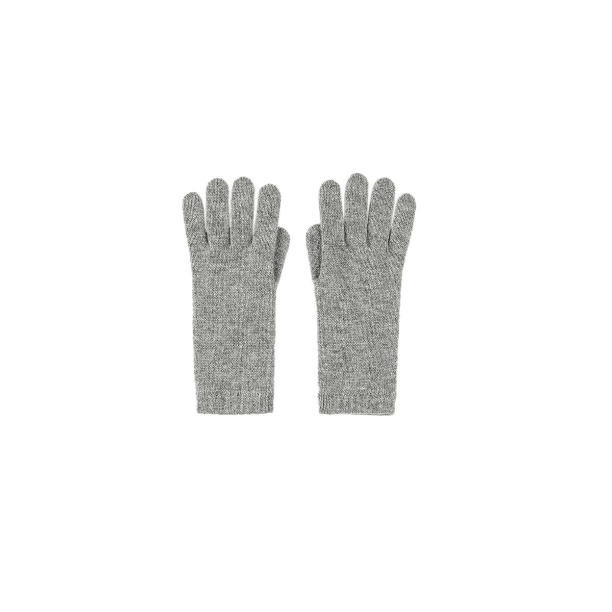 Light grey  cashmere womens gloves