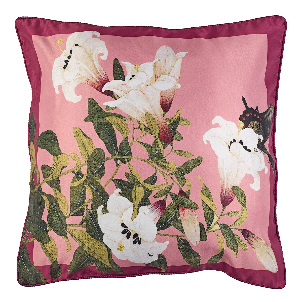 Lily butterfly cushion cover