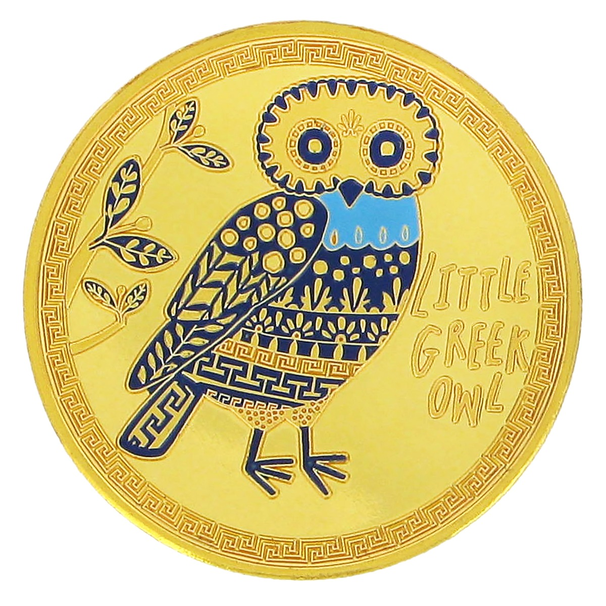 Little owl souvenir coin