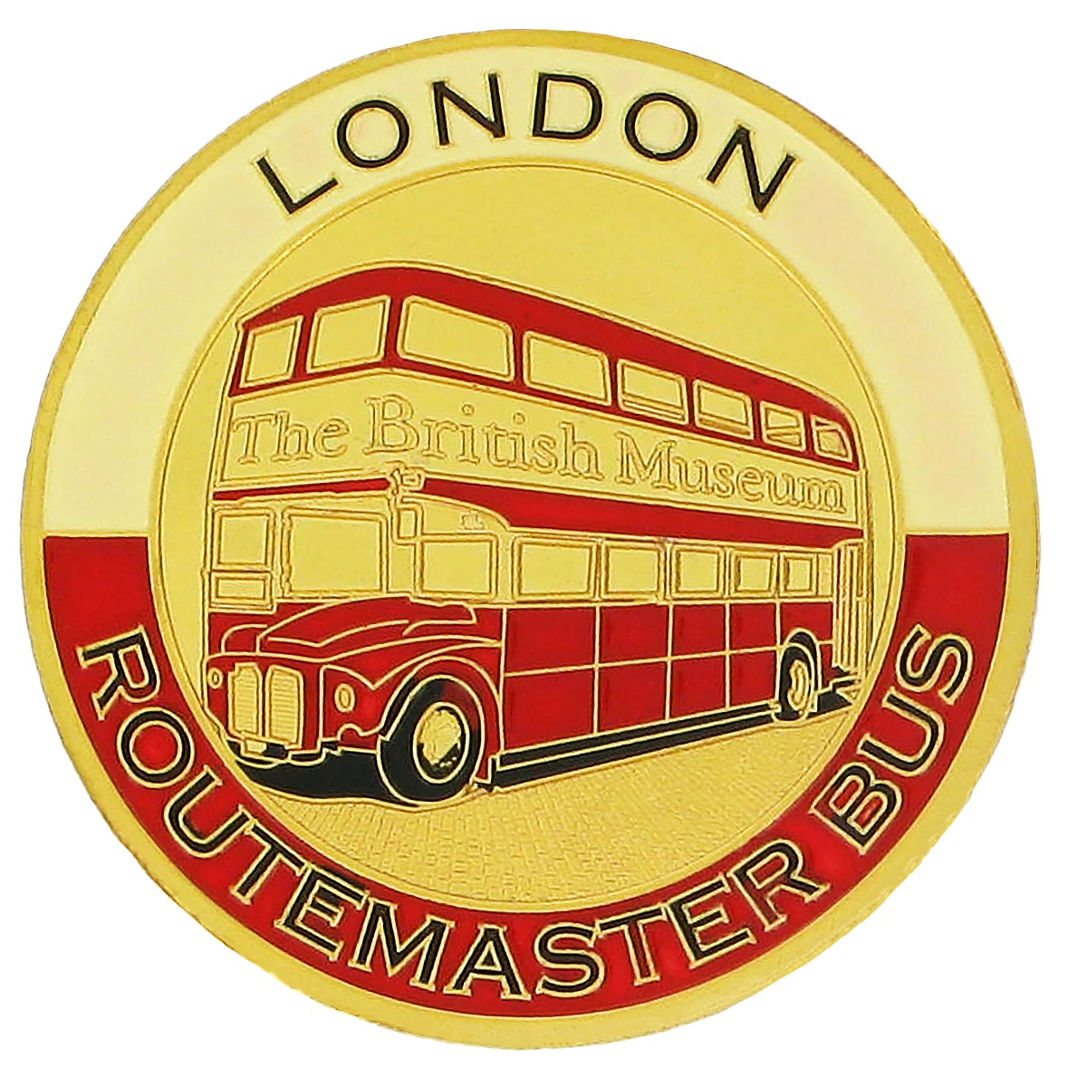London bus souvenir coin