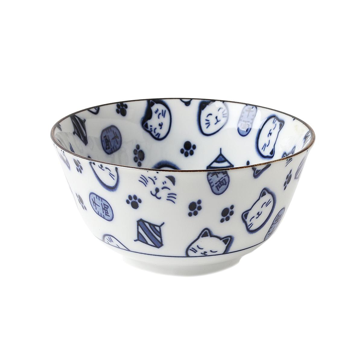 Lucky cat rice bowl
