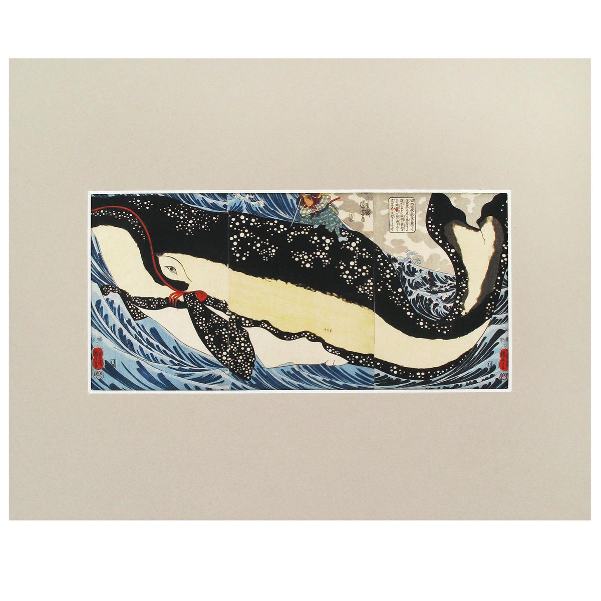 Miyamoto Musashi and the Whale print