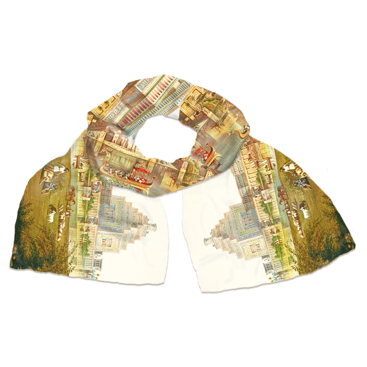 The Monuments of Nineveh silk scarf