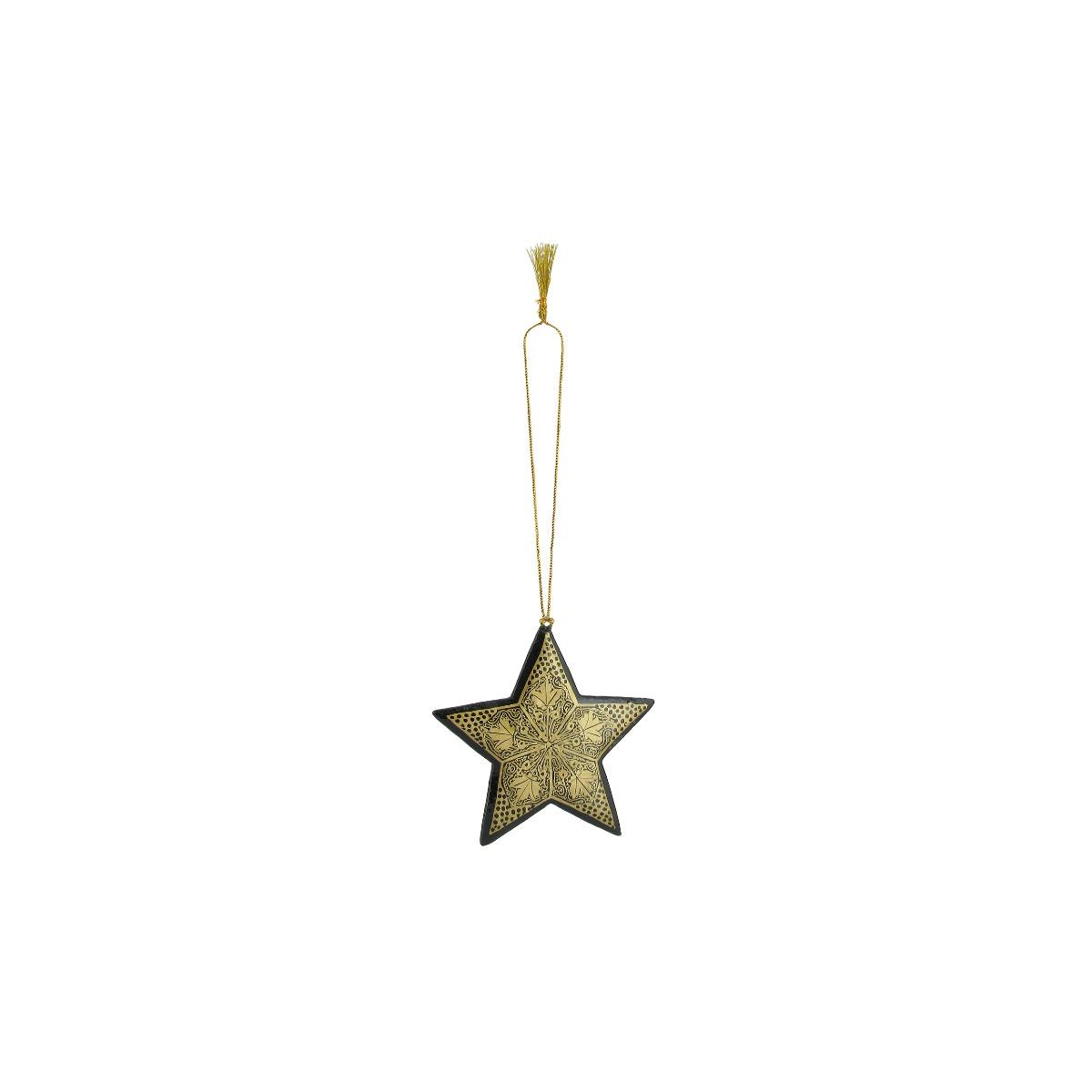 Christmas star decoration (assorted designs)