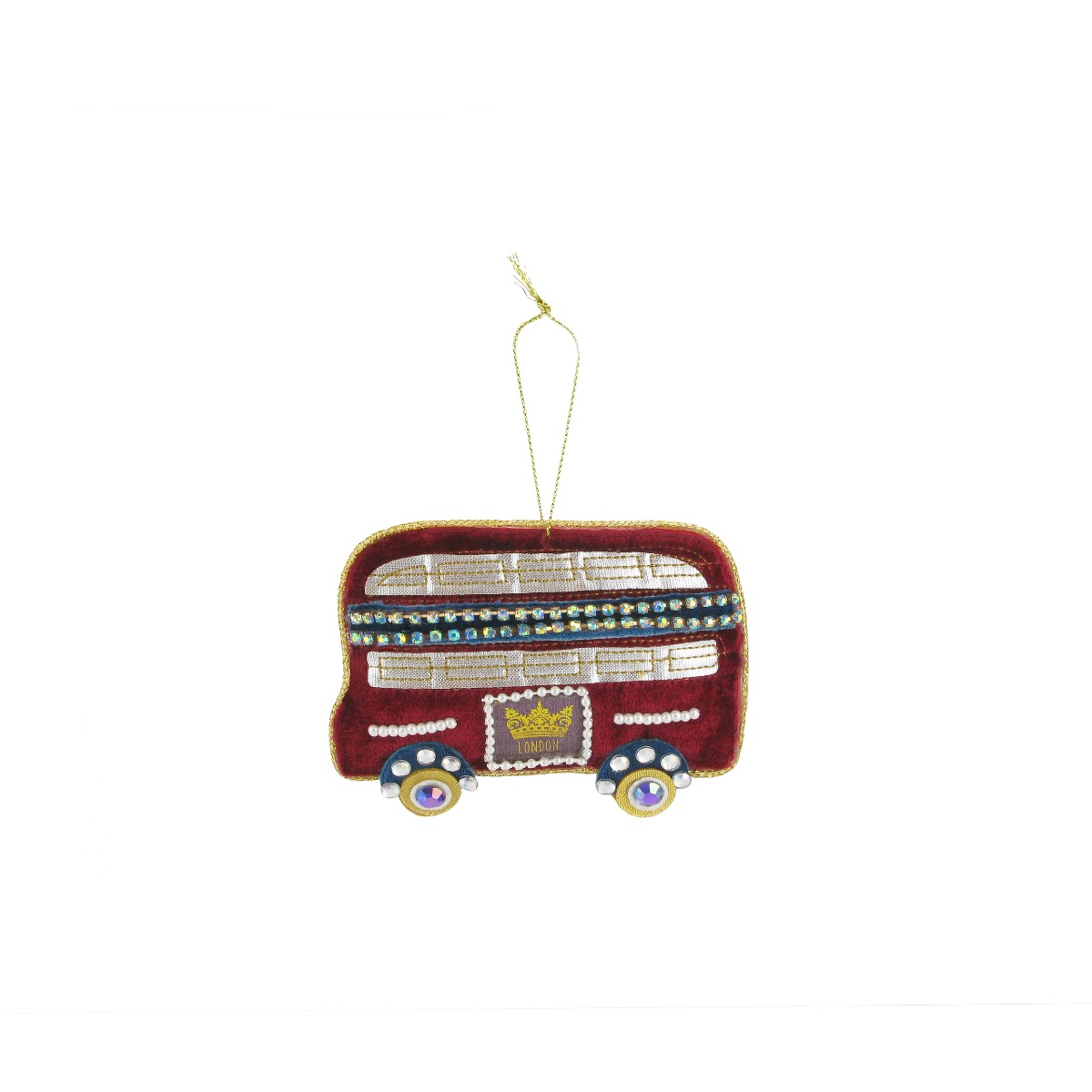 Embroidery London bus  decoration