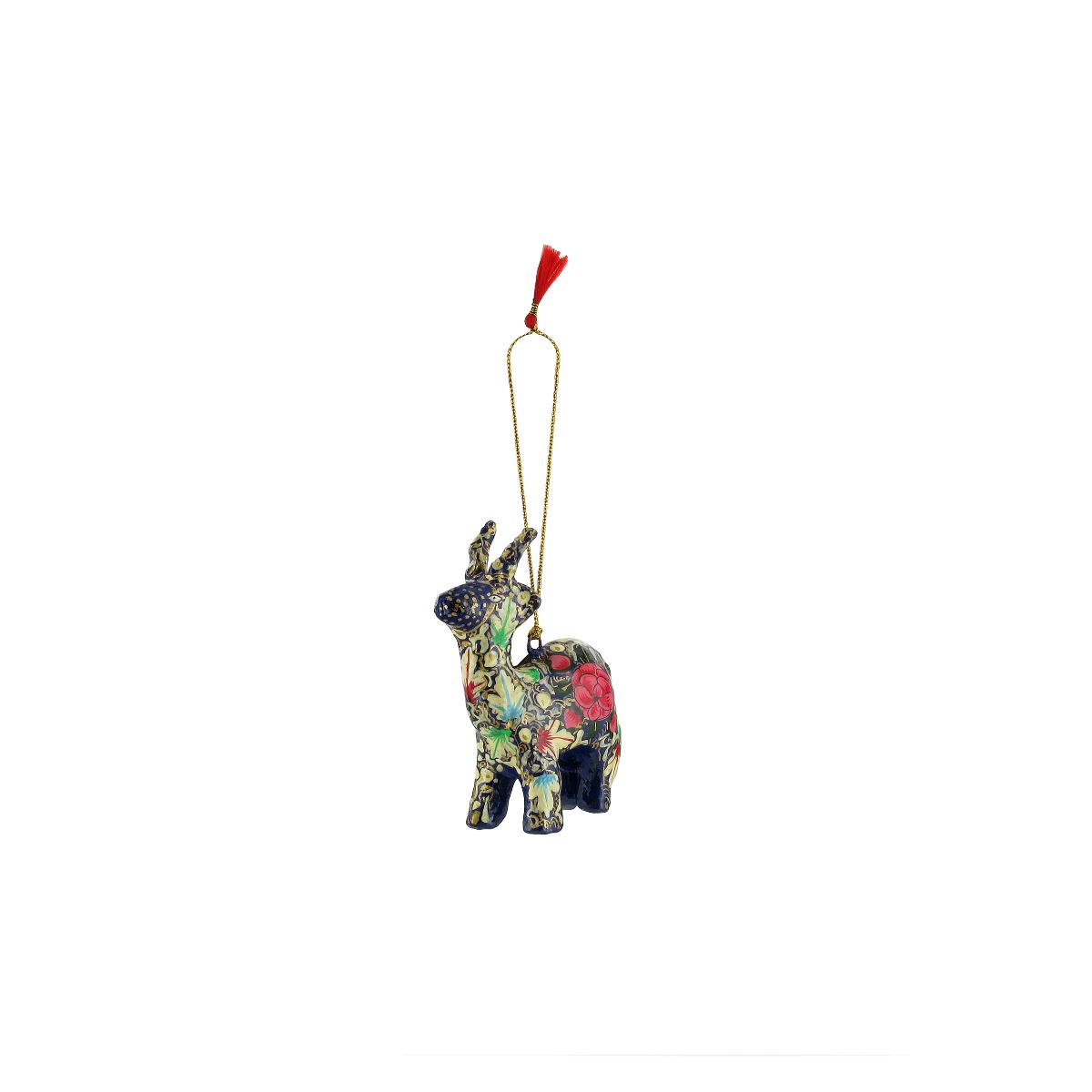 Multi-coloured reindeer decoration