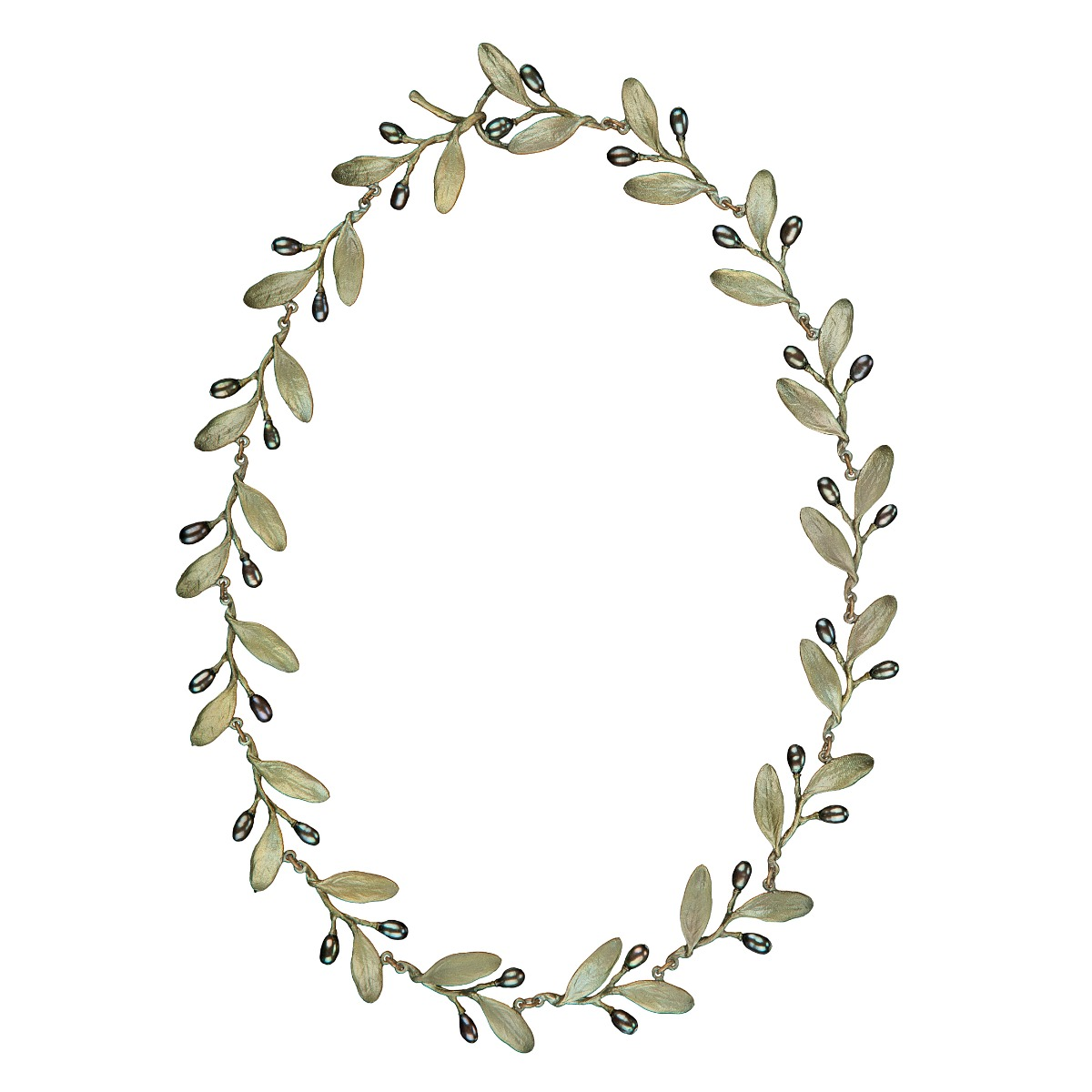Olive pearl necklace
