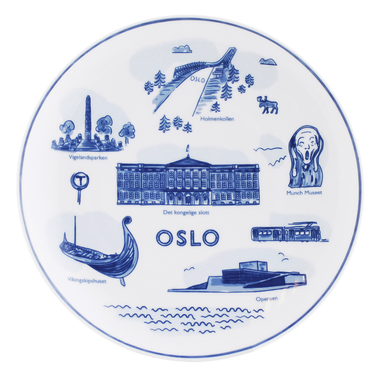 Oslo Souvenir Plate