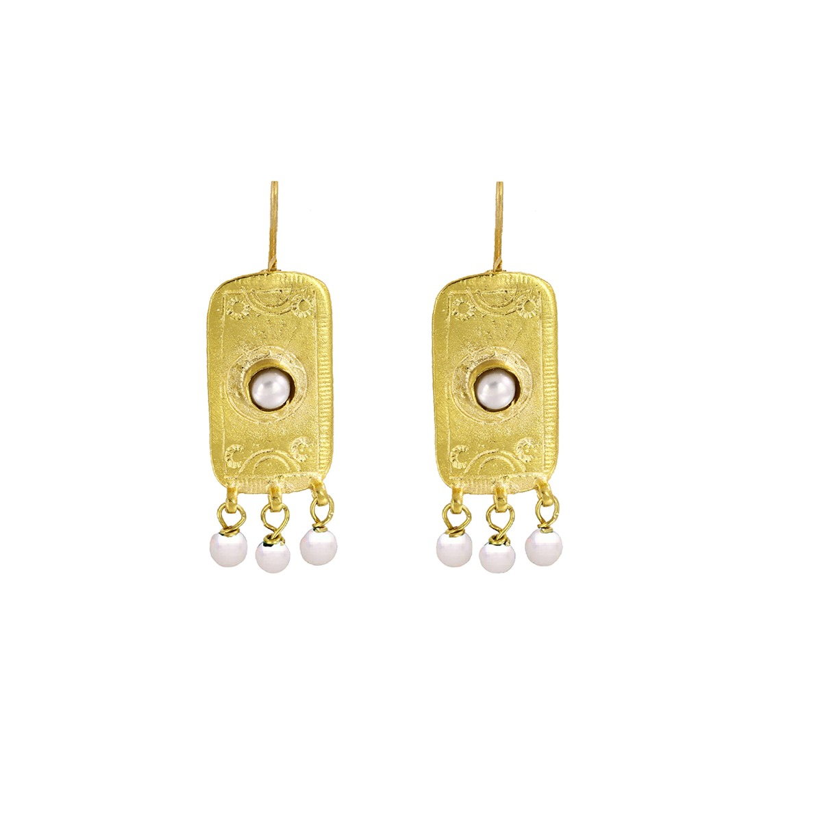 Ottoman pearl drop earrings