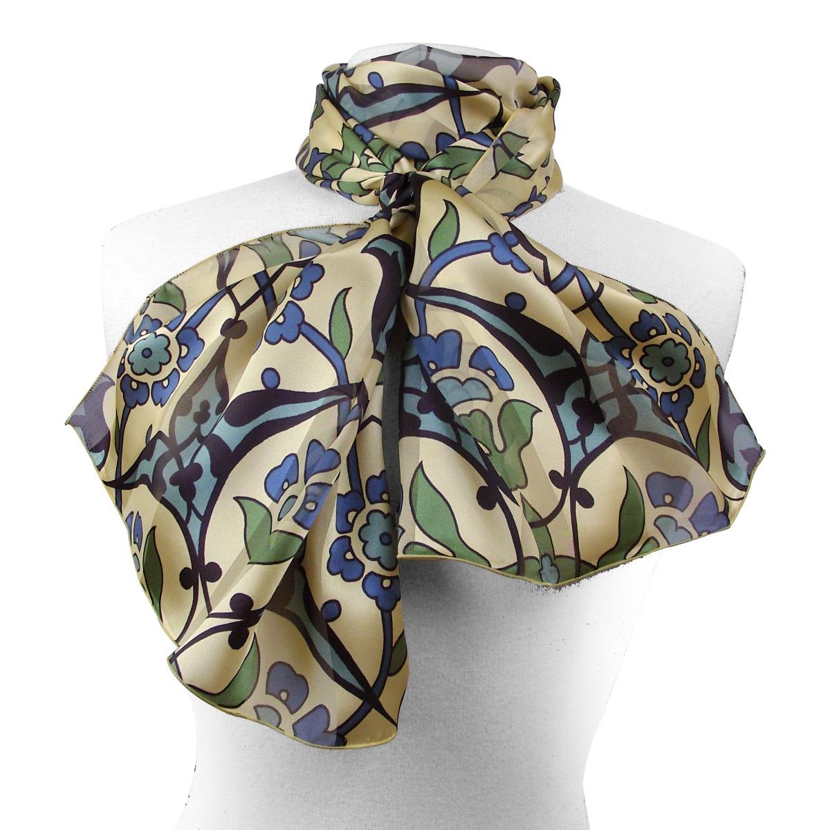 Persian motifs silk scarf