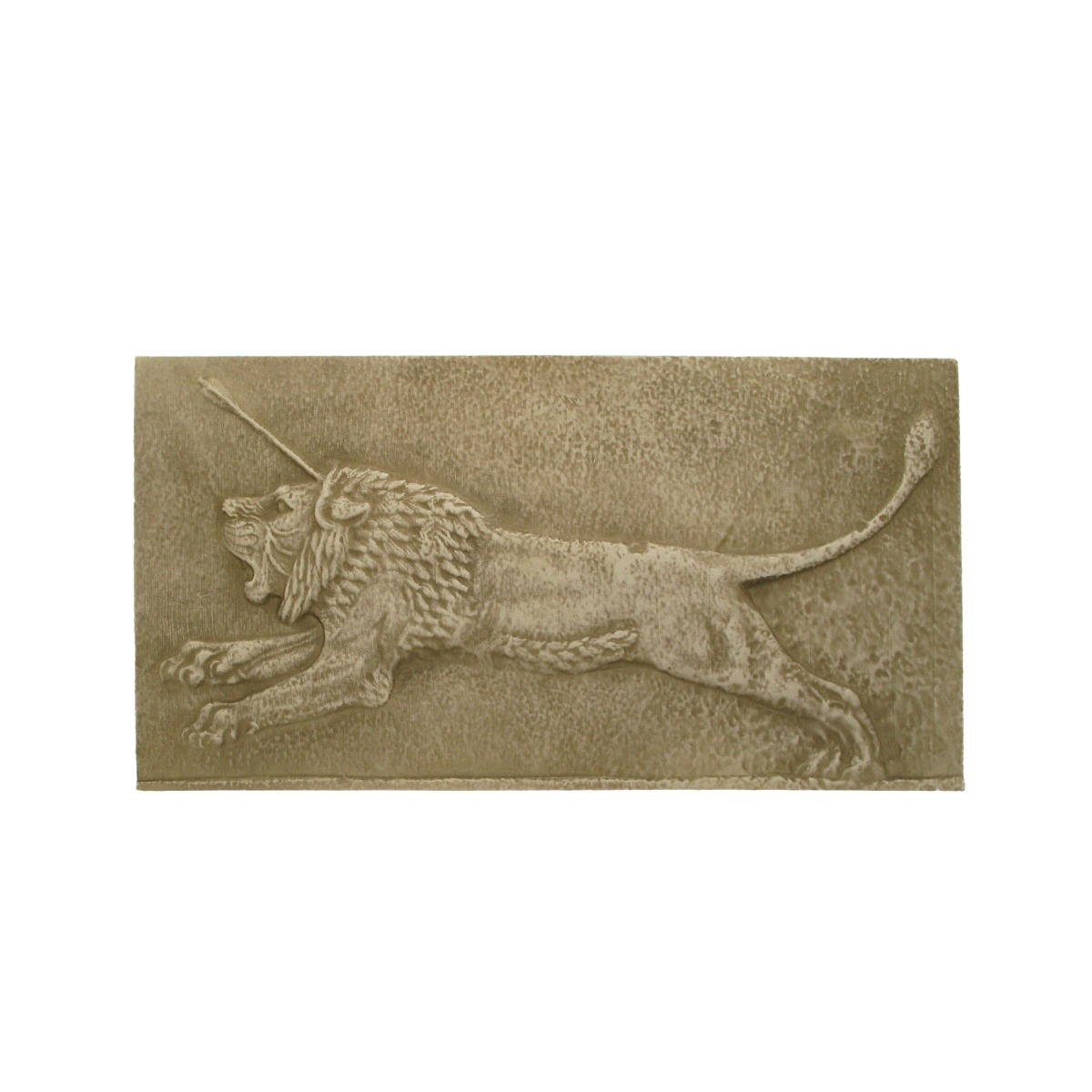 Assyrian lion plaque