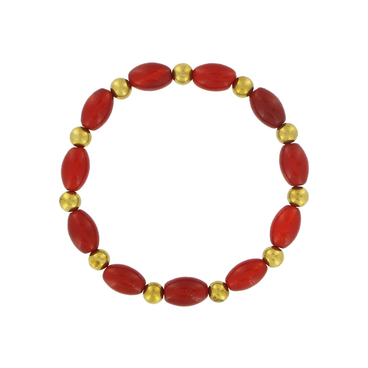 Red agate bead bracelet
