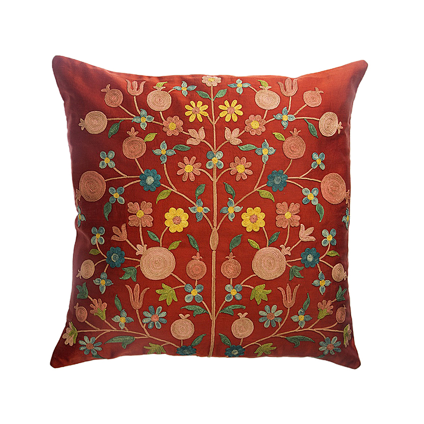 Red flowers cushion