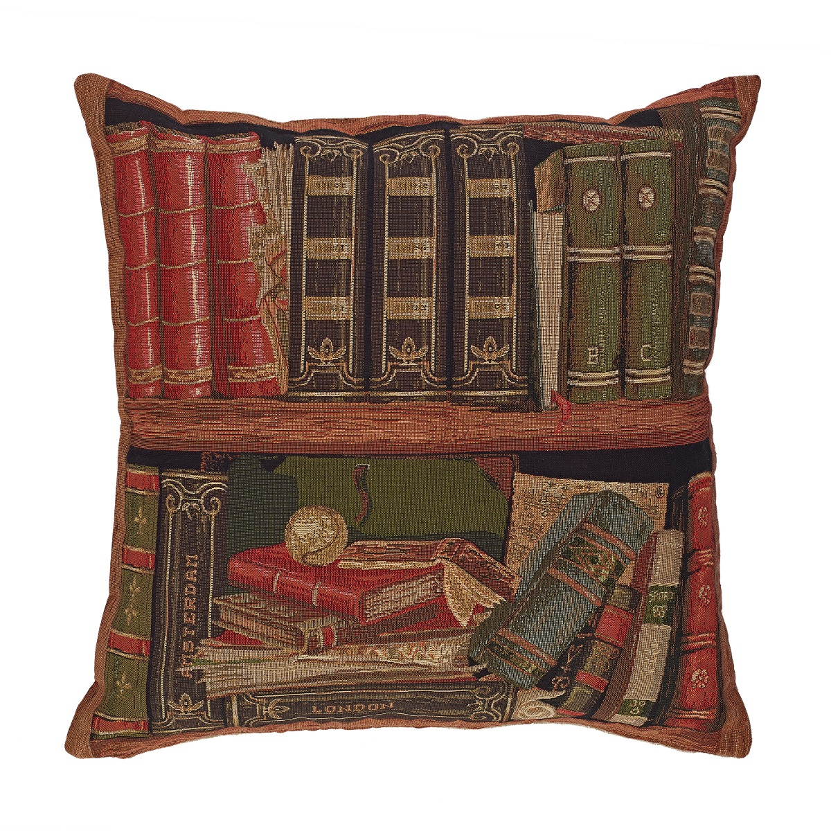 Tapestry library I cushion cover