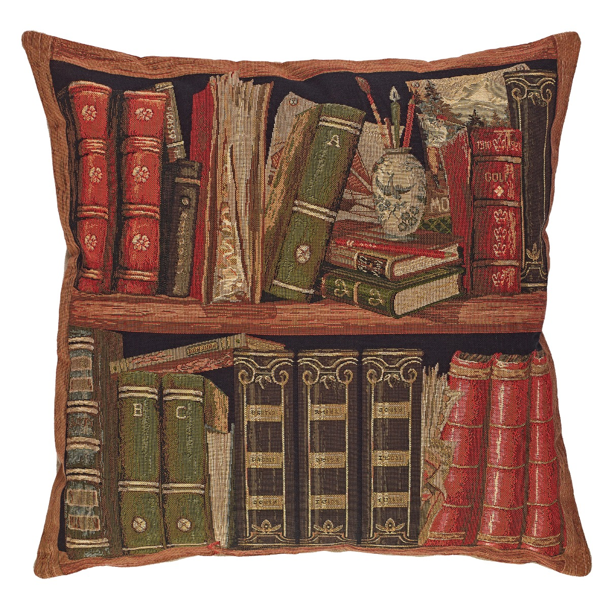 Tapestry library III cushion cover