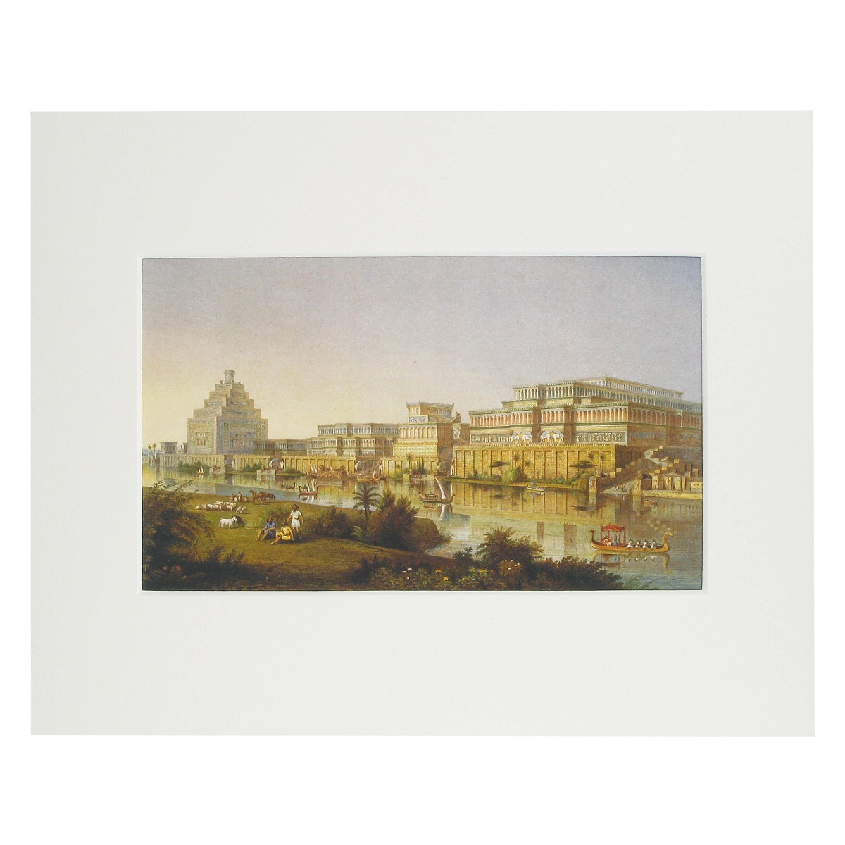 The Monuments of Nineveh mounted print