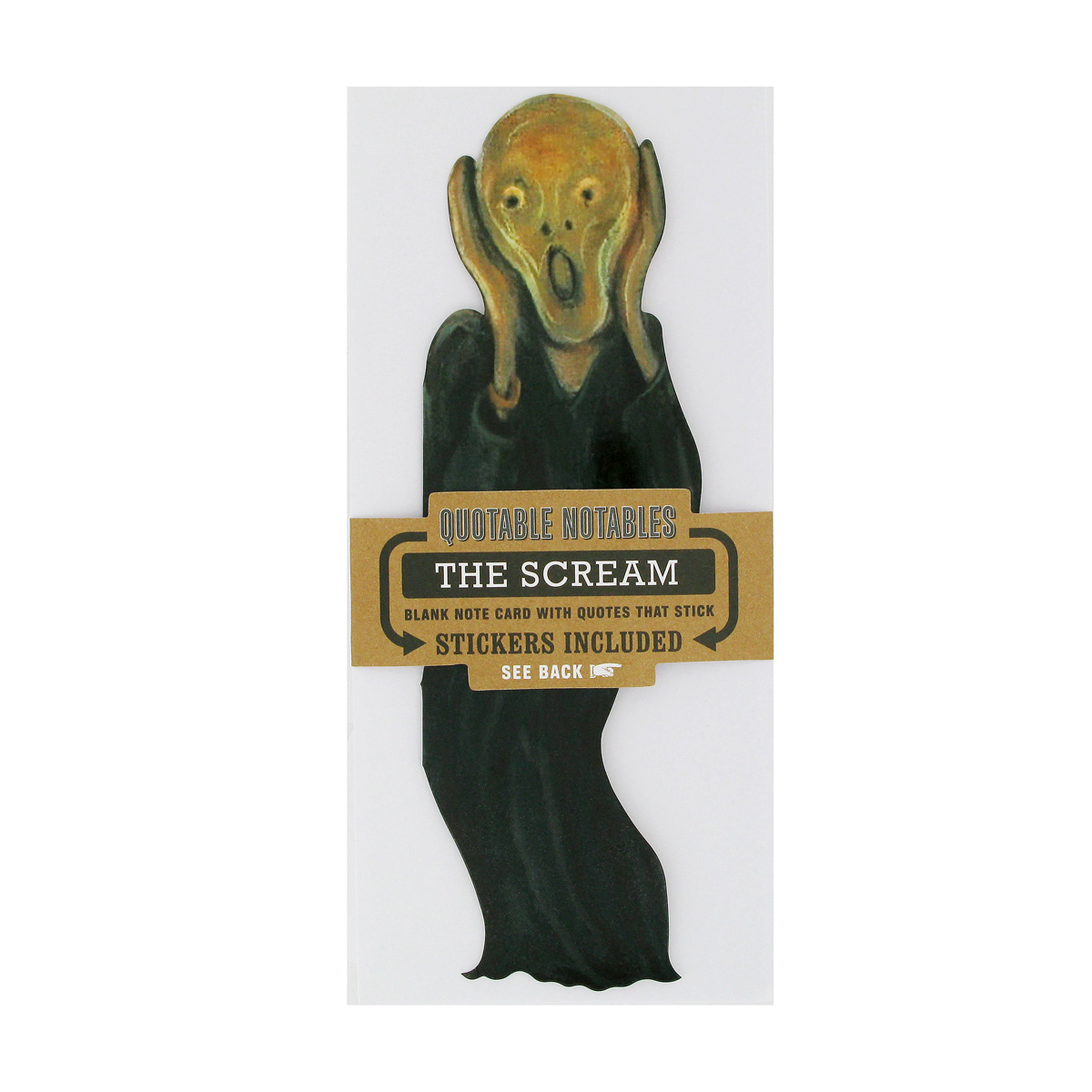 The Scream greeting card (with sticker quotes)