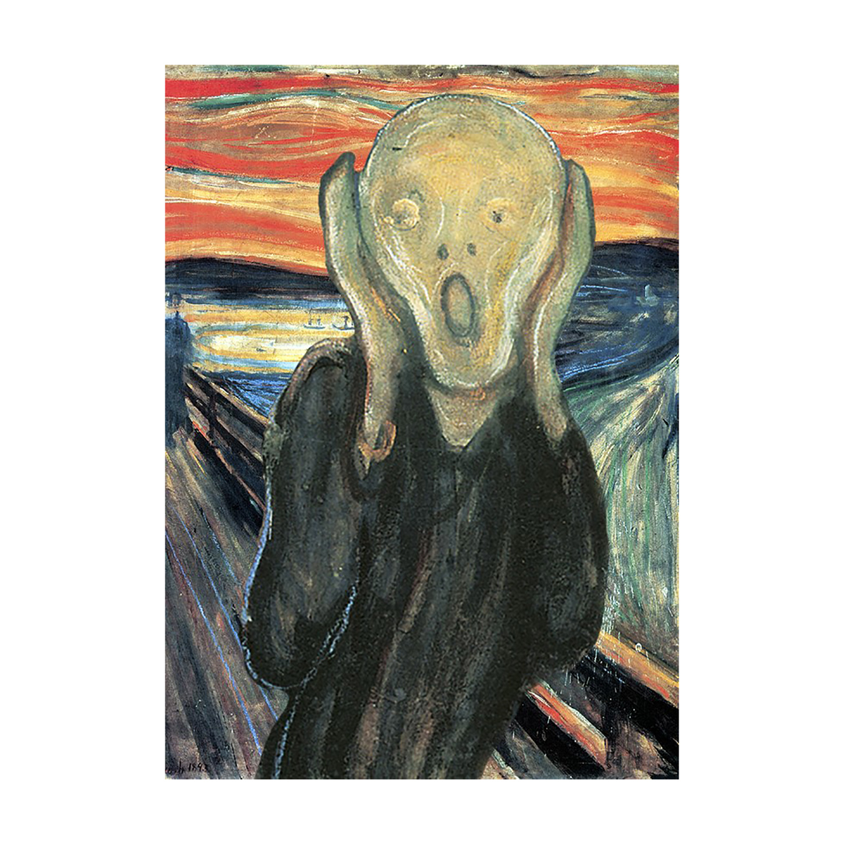 The Scream lenticular greeting card