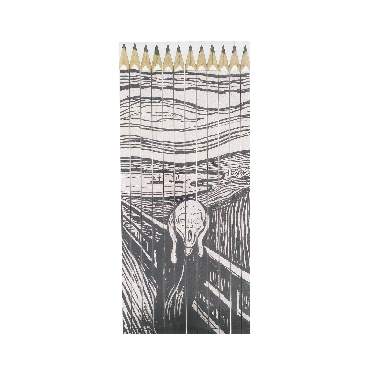 The Scream pencil set