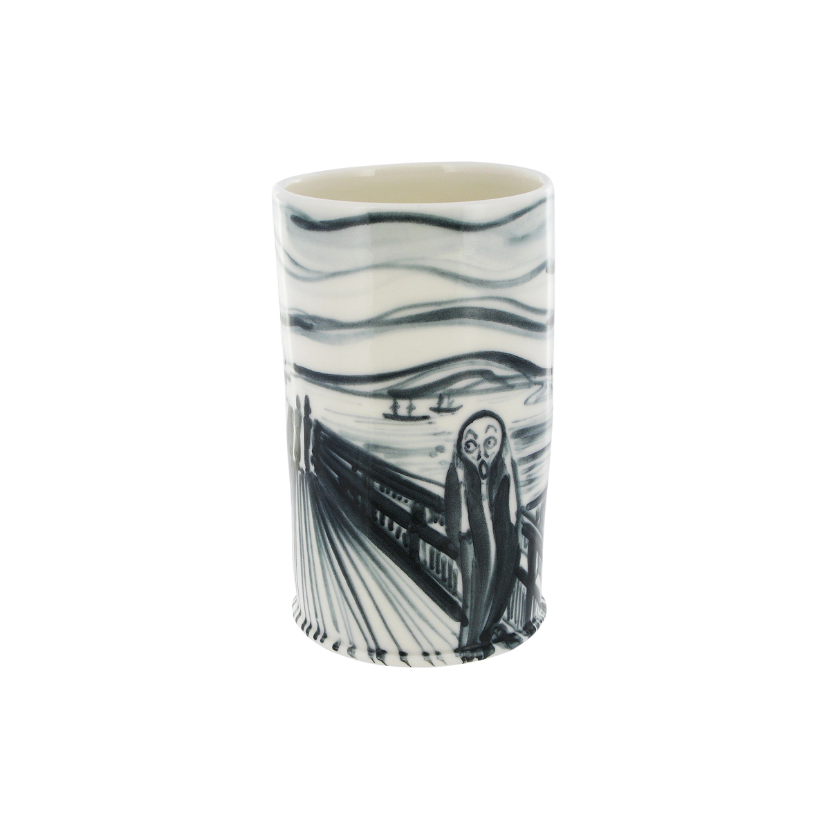 The Scream porcelain cup