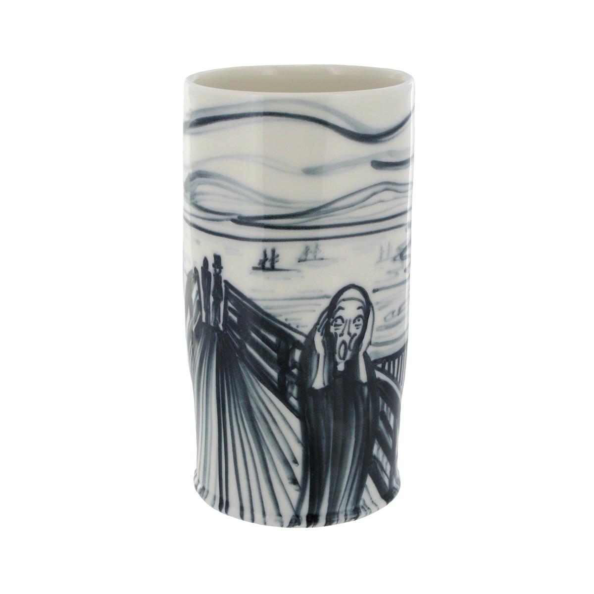 The Scream porcelain vase