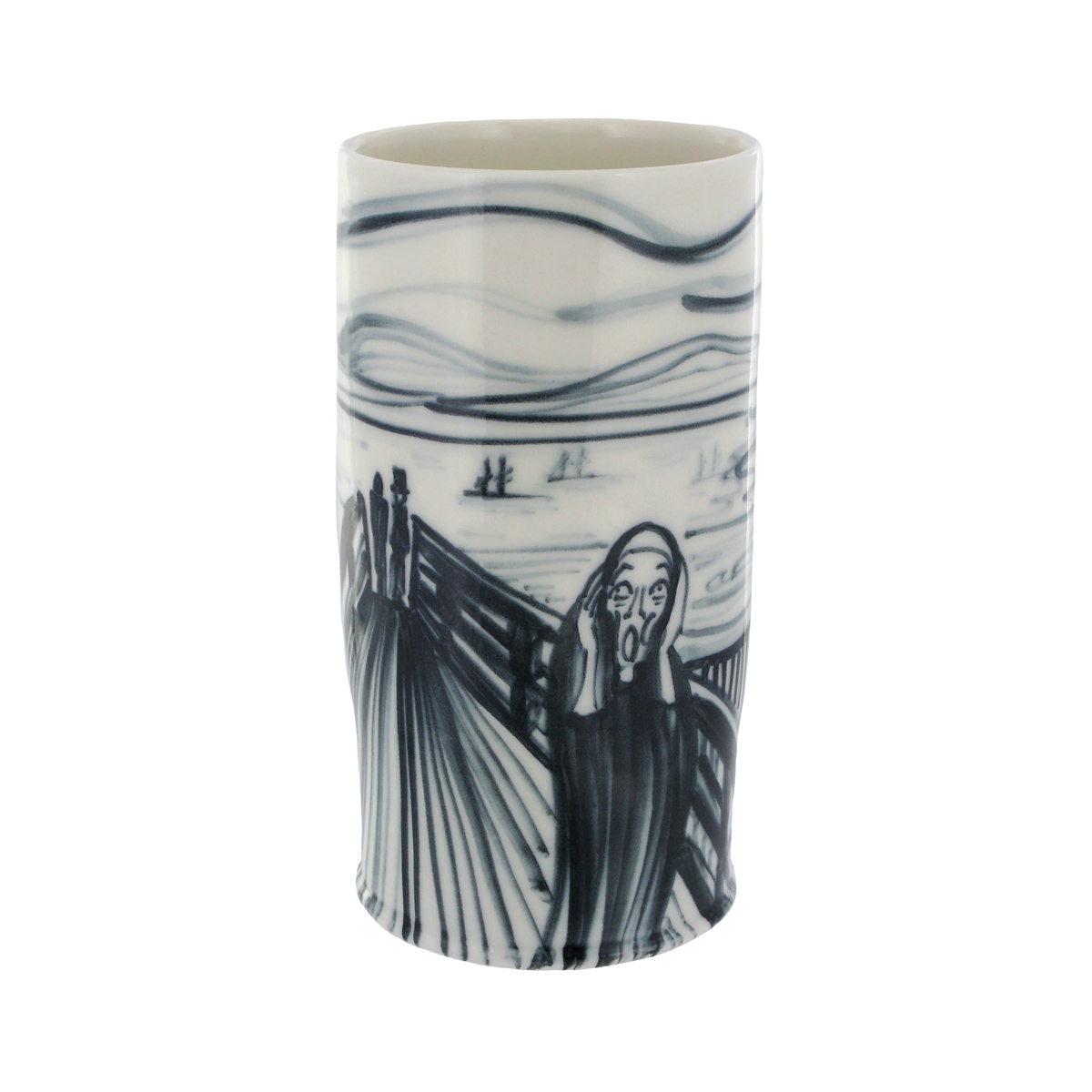 The Scream porcelain vase