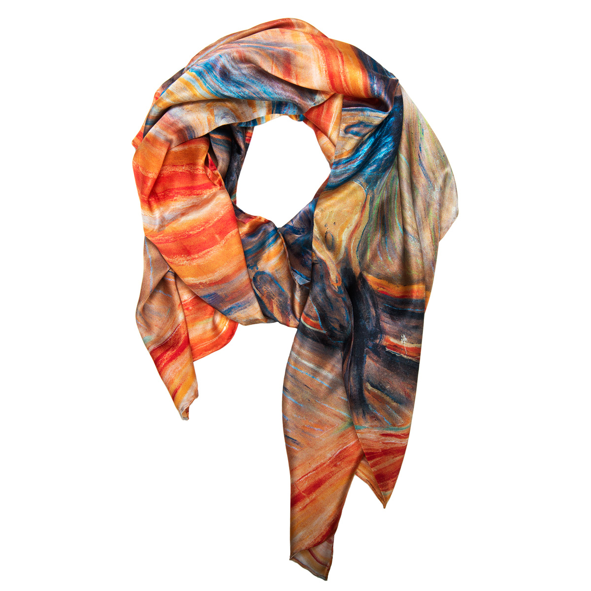 The Scream Silk Scarf