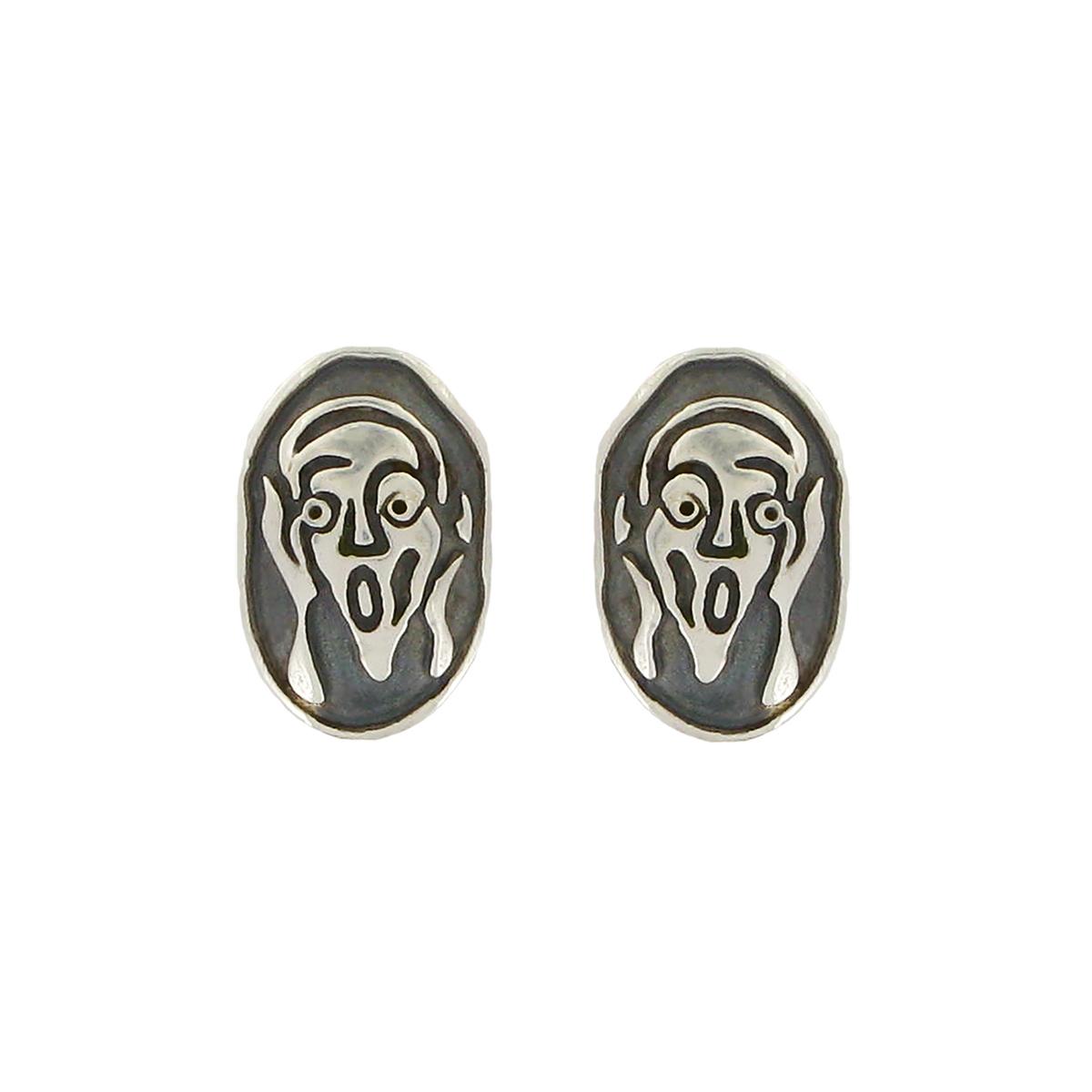 The Scream stud earrings