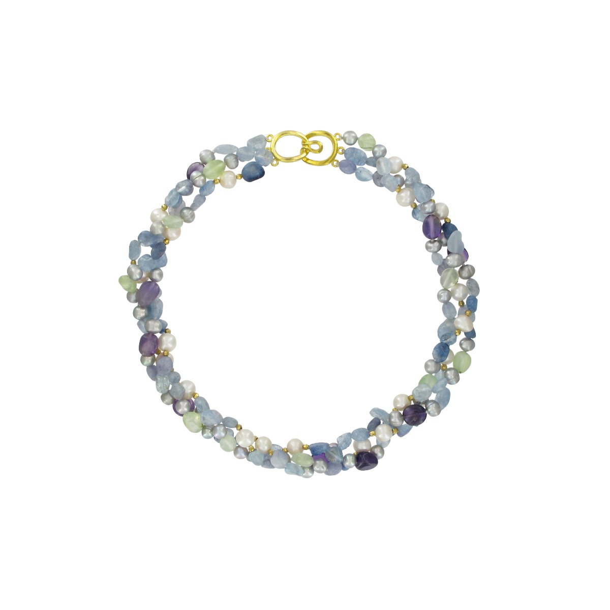 Three strand pearls necklace