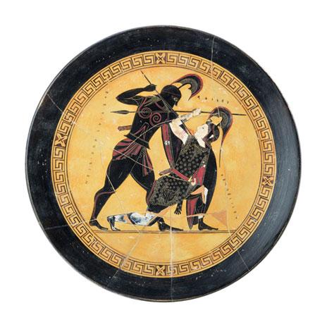 Achilles & Penthesilea plate