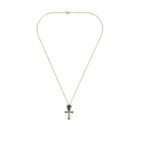 Ankh bronze necklace