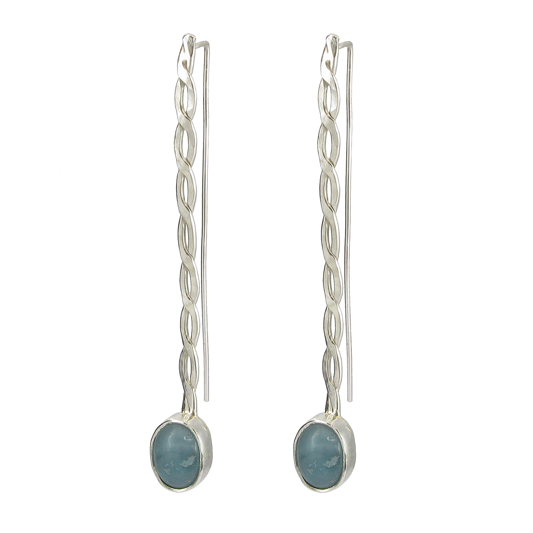 Amazonite stone drop earrings
