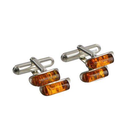 Amber Bars cufflinks