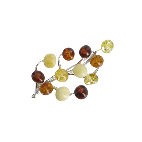 Amber Branch brooch
