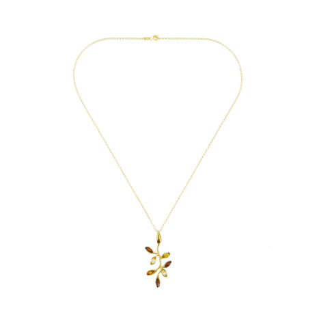 Amber branch necklace